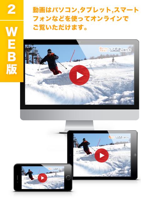 2)WEB版 動画はパソコン、タブレット、スマートフォンなどを使ってオンラインでご覧いただけます。